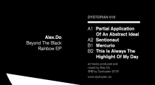 Out now: Alex.Do – Beyond The Black Rainbow EP (Dystopian 019)