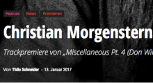 Trackpremiere: Christian Morgenstern – Miscellaneous Pt. 4 (Don Williams Remix) via Groove Magazin