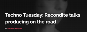 Recondite talks producing on the road