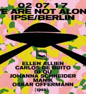 Oskar Offermann at We Are Not Alone by Ellen Allien