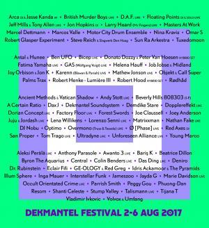 Dekmantel Festival 2017 with Ø [Phase] live, Rødhåd, Tijana T