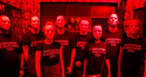 back in: Dystopian is watching you shirts