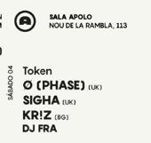 Momentum – 10 Years of Token: Ø (Phase) + Sigha + Kr!z + DJ FRA