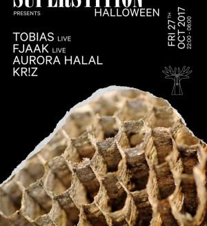 Superstition Halloween with Tobias, FJAAK, Aurora Halal, Kr!z