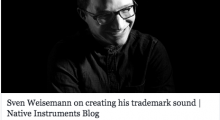 Sven Weisemann on creating his trademark sound
