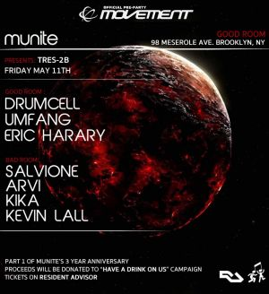 Official Movement Pre-Party – Tres2b with Drumcell, Umfang & Guests