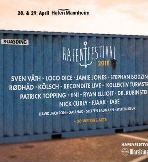 Recondite, Rødhåd at Hafenfestival Mannheim