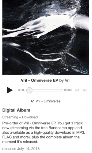 Vril – Omniverse EP with bandcamp exclusive version