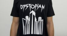 "back in: Dystopian ""Dystopolis"" t-shirt"