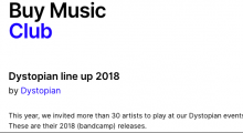 Buy Music Club: Dystopian line up 2018