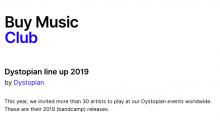 Dystopian line up 2019 Buy Music Club
